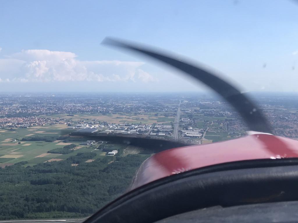 Anflug auf Milano Bresso